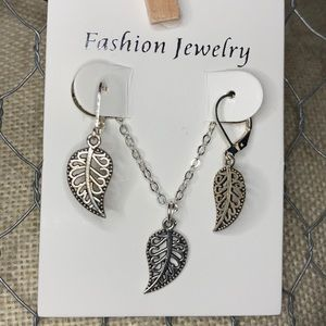 Cute Leaf Jewelry Set